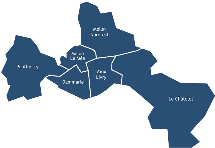 Carte des 6 secteurs
